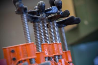 Close-Up Photo of Welding Clamps